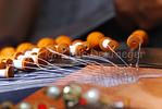 How lace-work (kantwerk) is made in Bruges (Brugge), Belgium.